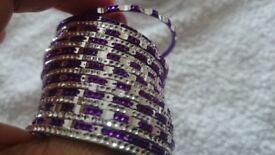 kids purple and sliver bangles