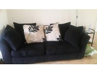 Sofa bed 3 seater. black. Good condition .