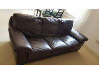 FREE leather sofa brown 210cm x 95cm x 83cm COLLECTION ASAP