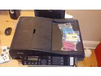 Wireless printer - Print/Copy/Scan/Fax multifunction - Epson BX320FW + spare cartridges