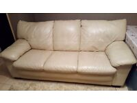 3 seater leather settee plus chair