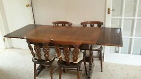 dining table and chairs - with extension leaves