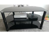 Black glass tv stand for tvs upto 50 inch
