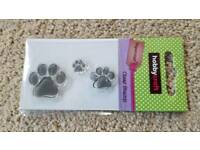 HOBBYCRAFT PAW PRINT CLEAR RUBBER STAMPS - BRAND NEW