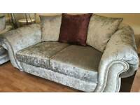 Large 2 seater & 2 swivel chairs