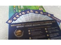 Tickets Pakistan v South Africa icc champions trophy