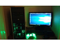 COMPLETE HP Gaming System QUADCORE OVERCLOCKED WITH GAMES + CONTROLLER
