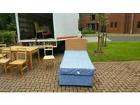 Single devan bed with waterproof mattress + headboard £55