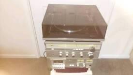 Waltham record player/Amplifier/radio/Tape deck