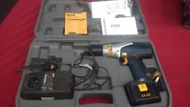 DRILL RYOBI 14.4V WITH BATTERY AND POWER CHARGER IN GOOD WORKING CONDITION AVAILABLE FOR SALE