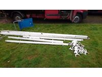 Approximately 40 metres 2nd hand white guttering