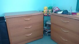 2 x 3 drawer chests and matching dressing table