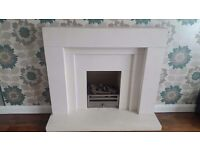 Natural Sandstone fireplace. As new.