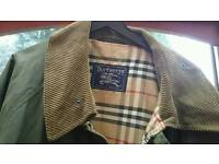 VINTAGE BURBERRY Shooting /hunting coat size XL