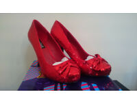 Red sequined shoes size 9