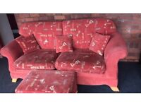 Sofa and large footstool. Pet free smoke free home. Excellent condition