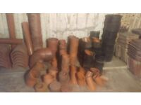 Assortment of drainage pipes excess to requirements on conversion project