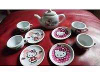 Hello Kitty Ceramic China Tea Set