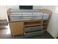 Kid's Leo sleeper 2 draw pull out desk