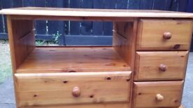 tv unit and 3 drawer unit