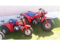 1986 Honda atc 125m trike classic rare motorbike. Not quad suzuki yamaha big red