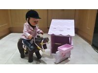 Baby Born with Horse, Stable, Extra Clothes and Accessories
