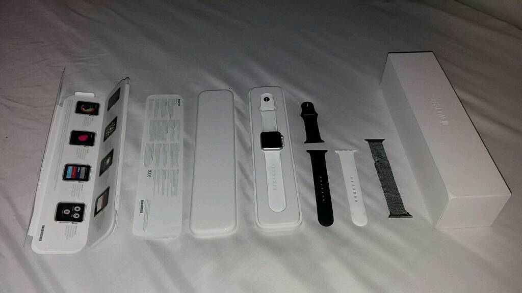 Apple watch series 1, 38mm, sports, silverin Brandon, County DurhamGumtree - Apple watch series 1, 38mm, silver, sports aluminium silver with white sports band. Excellent condition with original box, charging brick, charging cable and manuals. Also comes with genuine black Apple sports band strap and stainless steel Milanese...