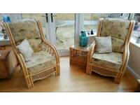 Conservatory 3 Piece Wicker Suite