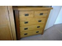 Solid Oak Bedroom draw unit