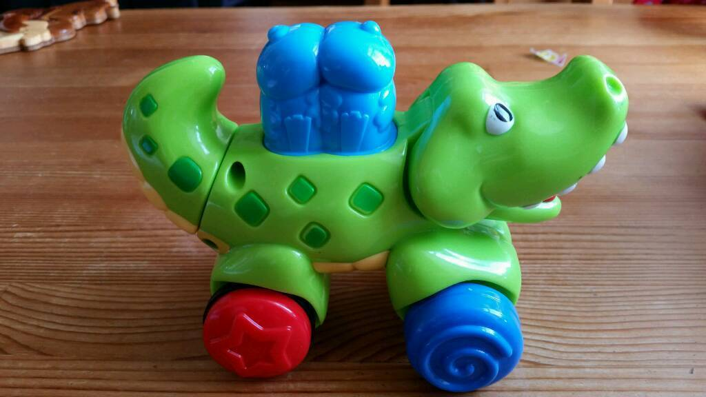 Baby toy bundlein Trinity, EdinburghGumtree - 5 baby toys fisher price push along crocodile m&s cuddly sensory snail. Vibrates. sensory triangle elc octopus that plays a lullaby and each tentricle has a different feel/squeak. boots dragon that comes apart
