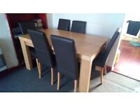 Next Dininig Table with 6 Chairs