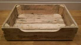Reclaimed / upcycled wooden farmhouse style bed for small dog or cat