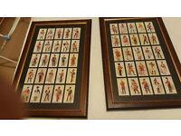 Framed Soldier cigarette cards