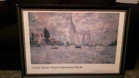 Claude Monet - Les Barques, Régates a Argenteuil Framed Picture