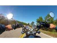 Casting male actor / model with motorcycle