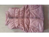 Little Girls Lovely Light Pink Sleeveless Jacket for 1-2 years