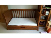 MAMAS & PAPAS OCEAN COT BED IN DARK OAK