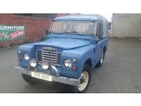 "SERIES 3 1982 LAND ROVER defender 88""diesel HARDTOP low miles pick up 4x4 tow bar"