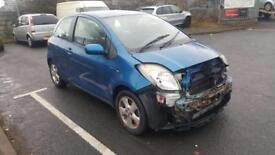 2006 (06) TOYOTA YARIS T - SPIRIT D4D IN BLUE DAMAGED SPARES OR REPAIRS