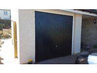Garage door - galvanised steel, black up and over 7ft X 7ft