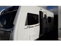 Elddis Affinity 2015 4 berth caravan with motor mover . Lots of soft furnishings included in sale.