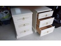 Solid pair of drawer chests - REDUCED