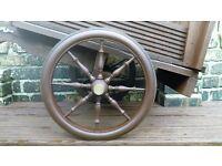 mini old cart wheels