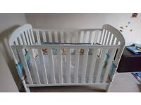 East Coast Anna Dropside Cot (White) Exellent Condition Mattress included
