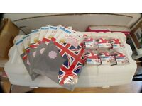 Union jack cupcake cases and boxes