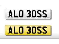 ALO BOSS Personal number plate
