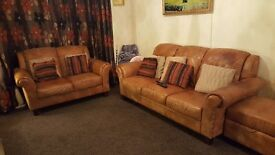 Leather Sofa 3 2 and foot stool 450