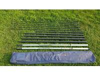 Avanti 14.5m stand and deliver pole 4 top kits 2 preston cupping tips