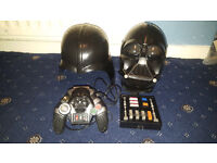 Star Wars Darth Vader Mask/ Helmet + Star Wars Control Pad. Voice Commands Voice Changer Collectors