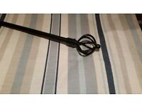 Laura Ashley curtains each curtain 63 inch wide / 54 inch drop with wrought iron curtain pole